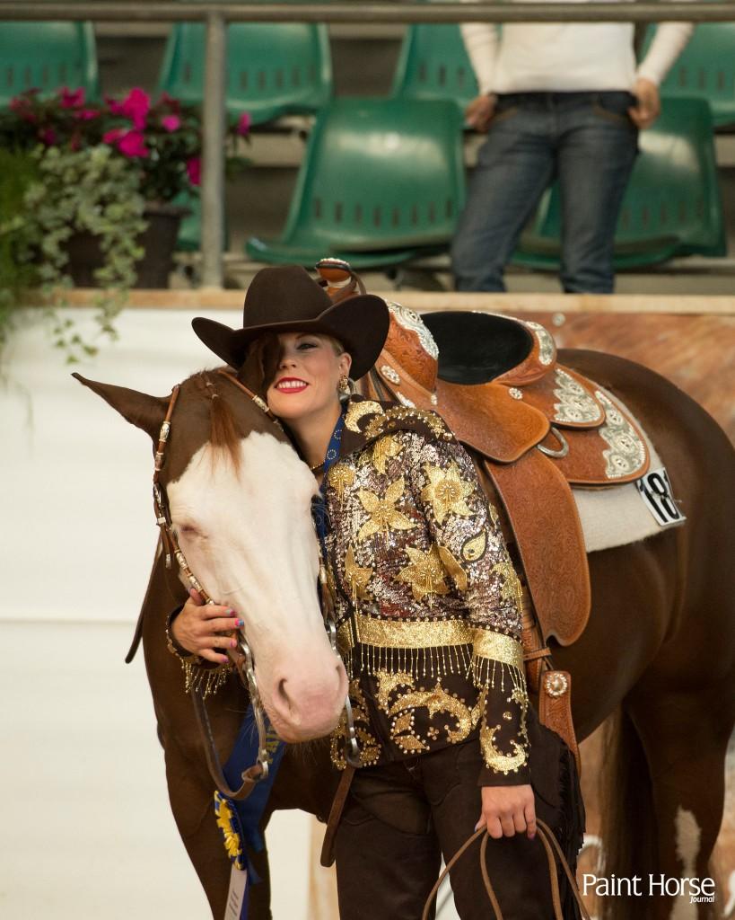 Sarah Vorraber & Lenas Amazing Grace, multiple European Champions; picture: Paint Horse Journal