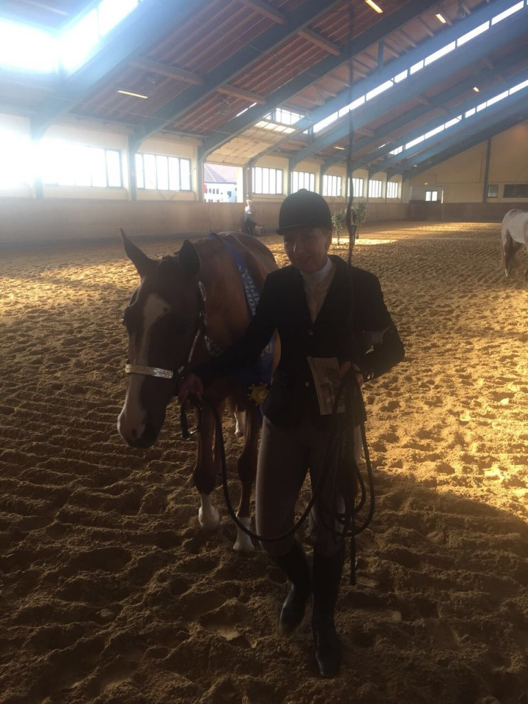 Nina Leiner and Fashionable Irons; NSBA European Champions Longe Line 2015