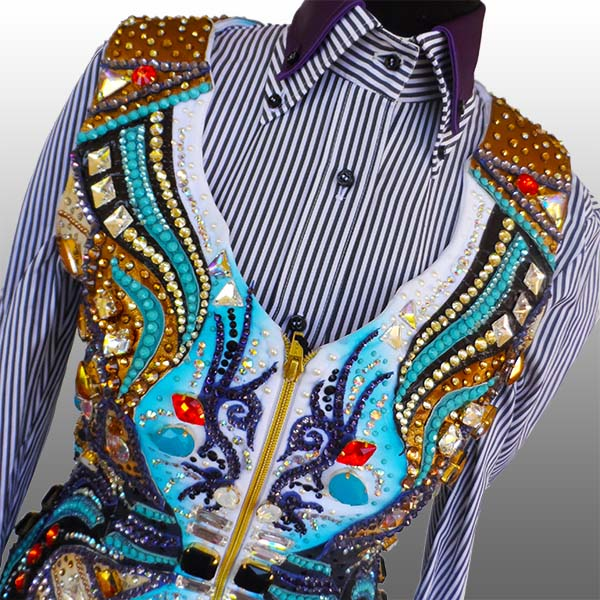 """Aerials"" - Custom vest and shirt vor Nina Leiner; picture: Anna Omodeo"