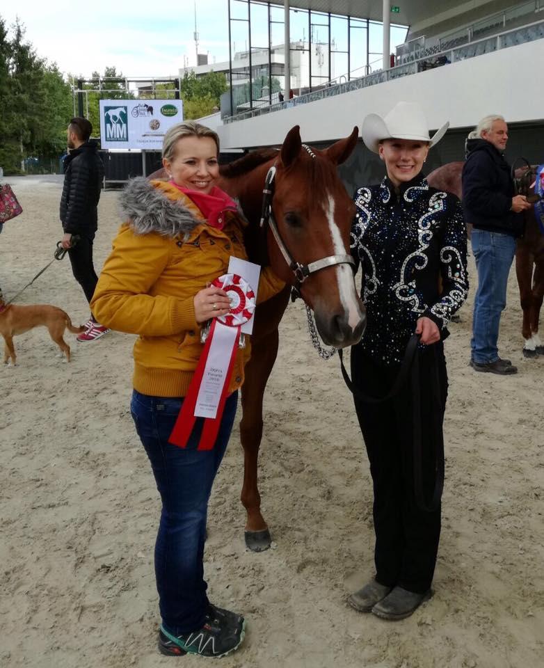 Julia mit Trainerin Franca Bartke & Hc Soo Wisely