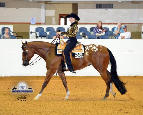 Zoe und Macho In Levi in Horsemanship; picture: Larry Williams