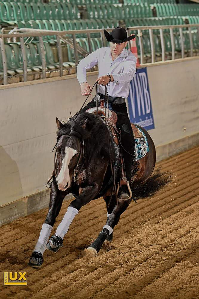 Alan and Ima Spooks Too during the Golden Series Reining, picture: Luxcompany
