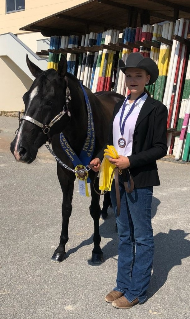 Liv and Flower - bronze medalist Youth Halter Mares